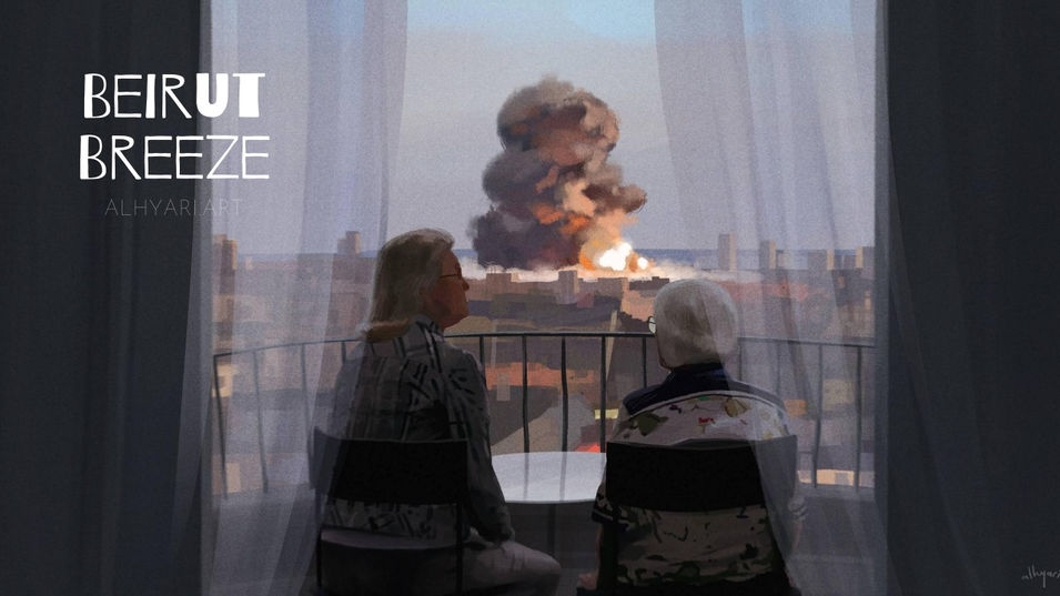 Beirut Breeze | Narrative Digital Painting Timelapse Video
