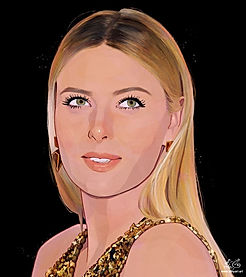 Maria Sharapova | Digital Portrait Painting Service | Procreate | by Alhyari Art