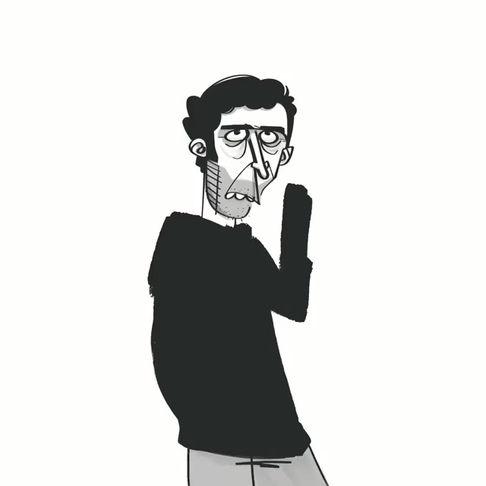 Mood   Digital Cartoon Portrait Time-lapse Video