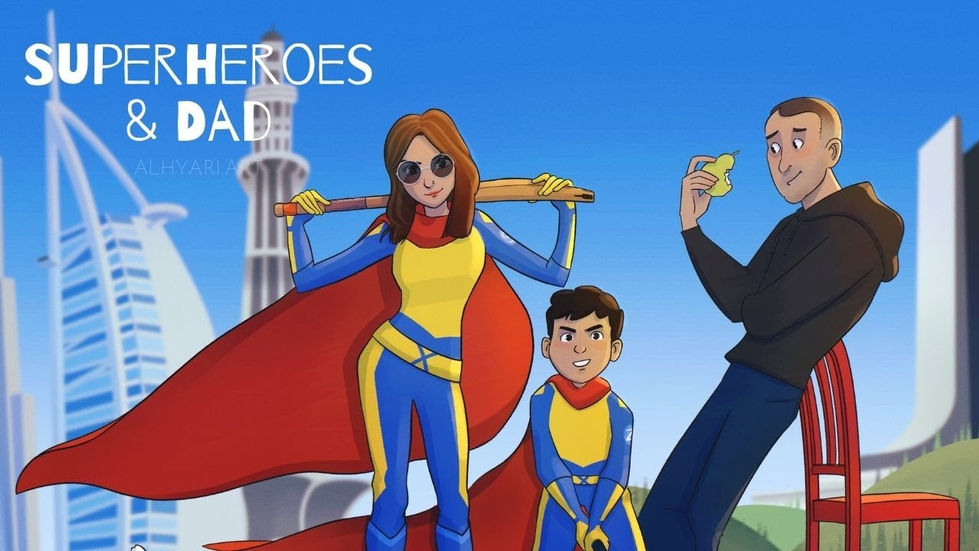 Superheroes.. and Dad | Digital Painting Timelapse Video