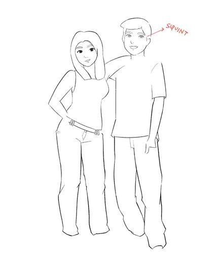 صِبا | رسم بوتريه رقميّ بأسلوب الكرتون