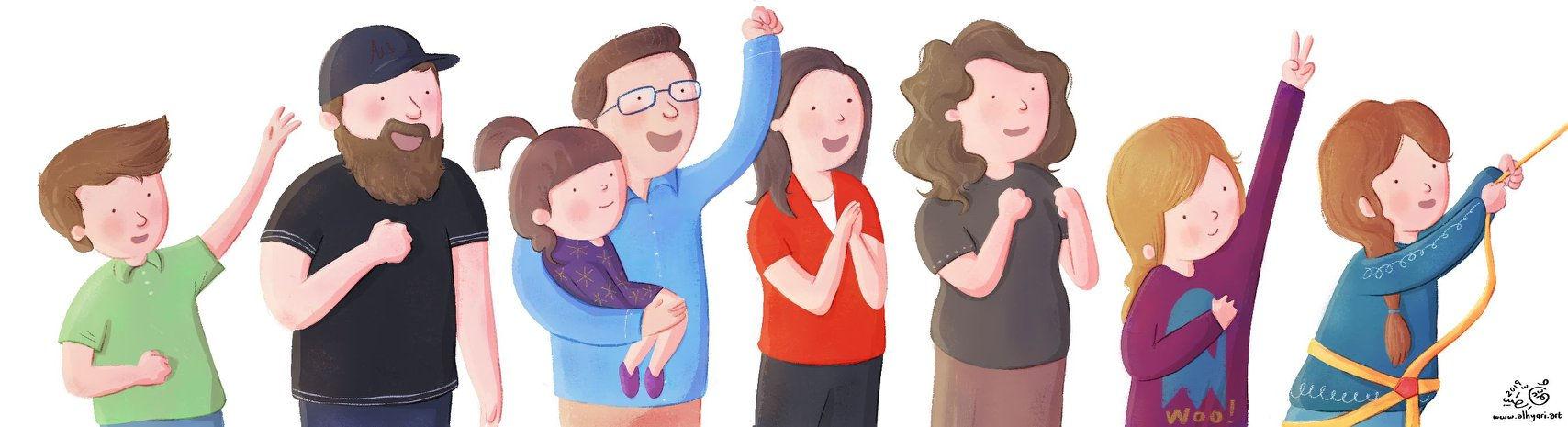 إحتفاء بالبطلة الصّغيرة! | رسم توضيحيّ لكتاب أطفال