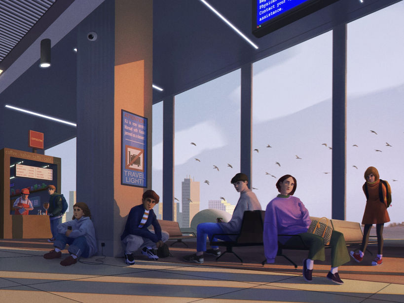 The Terminal (Detail) | Narrative Digital Painting