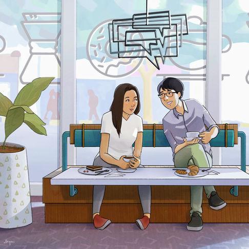 Cafe | Narrative Digital Painting
