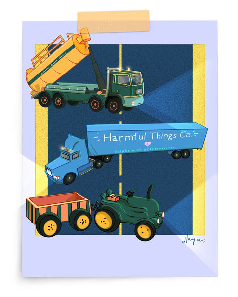 Trucks | Digital Cartoon for a Children's Book
