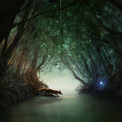 In The Mangrove Tunnel   Narrative Digital Painting