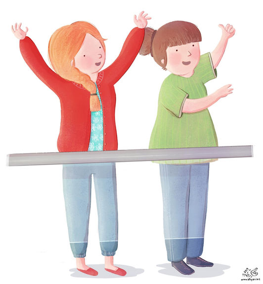 Applause for the Little Hero! | Children's Book Illustration