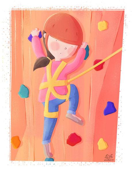 Worried Climber | Children's Book Illustration