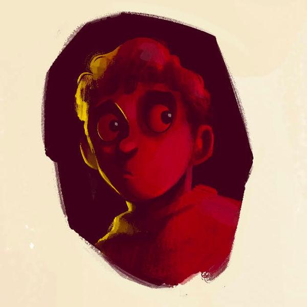 Red | Cartoon Portrait for a Children's Book