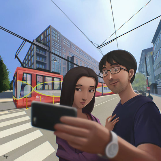Selfie   Narrative Digital Painting