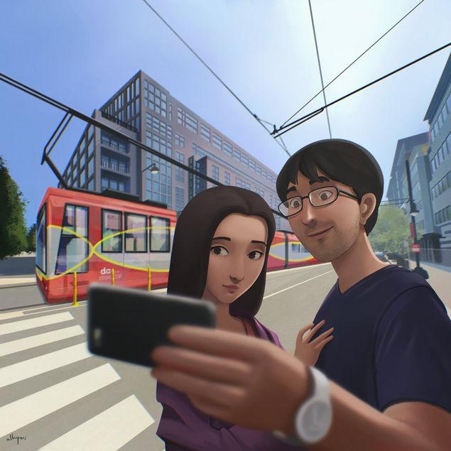 Selfie | Narrative Digital Painting