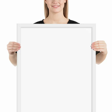 Premium Luster Photo Paper Framed Poster - 18x24 inches - 45x60 centimeters