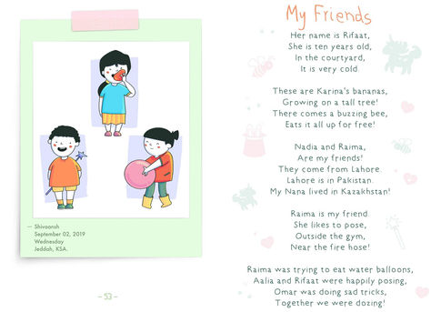 My Friends | Digital Cartoon for a Children's Book