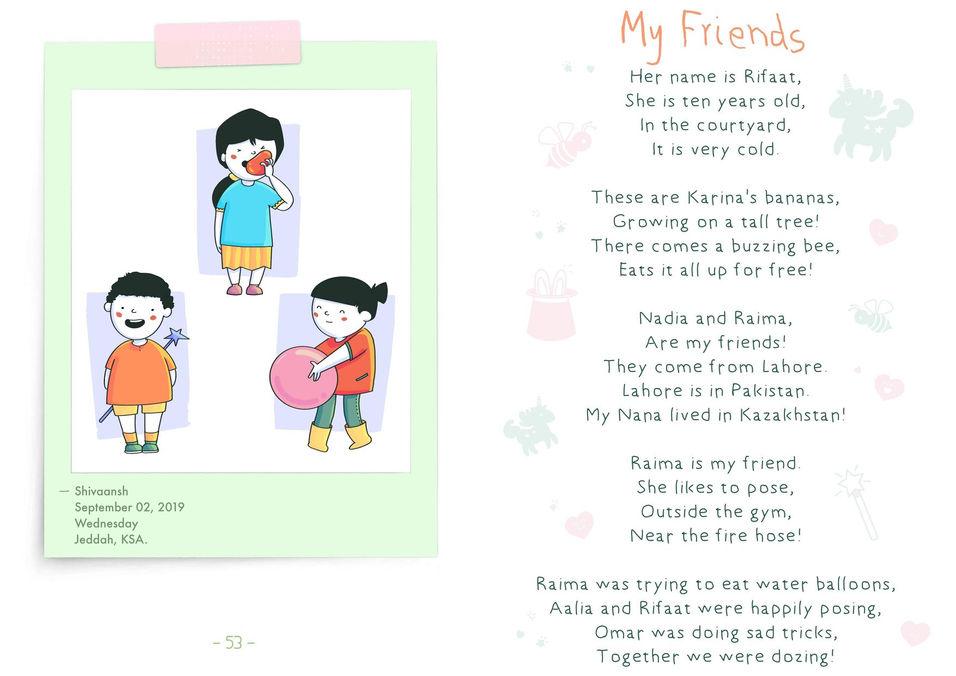 أصدقائي | رسم كرتون رقميّ لقصّة أطفال