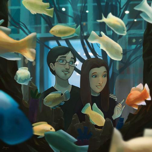 Aquarium   Narrative Digital Painting