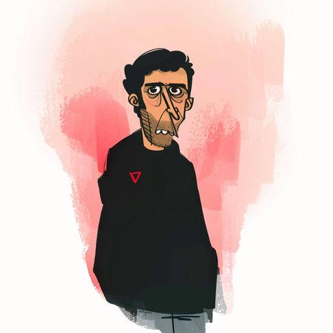 Mood   Digital Cartoon Portrait Painting