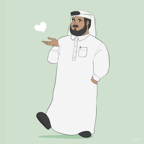 Cartoon Character | Khaliji Man