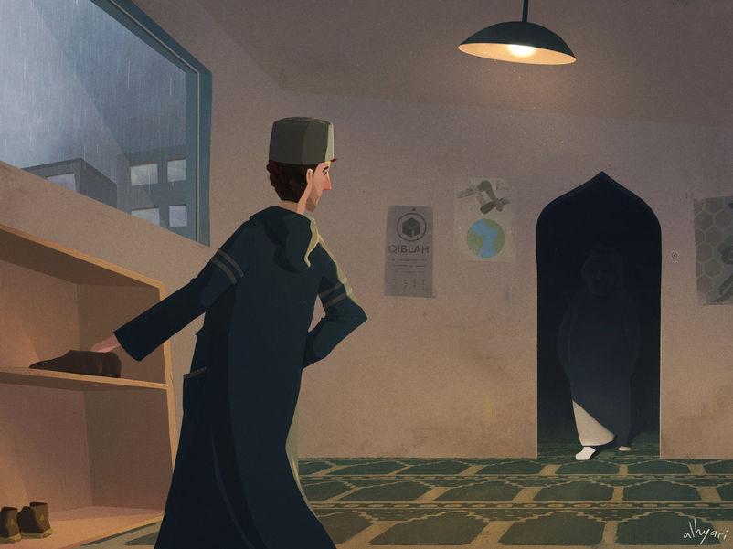 Gloomy Encounter | Children's Book Illustration