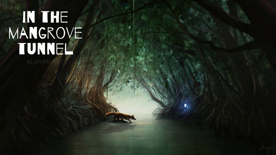 In The Mangrove Tunnel | Narrative Digital Painting Timelapse Video
