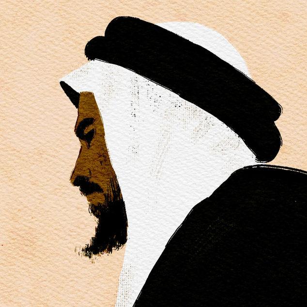 The Sheikh | Digital Portrait Painting (Detail)
