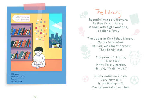 The Library | Digital Cartoon for a Children's Book