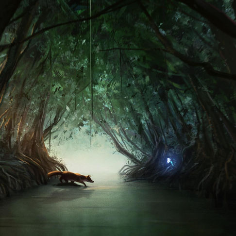 In The Mangrove Tunnel | Narrative Digital Painting