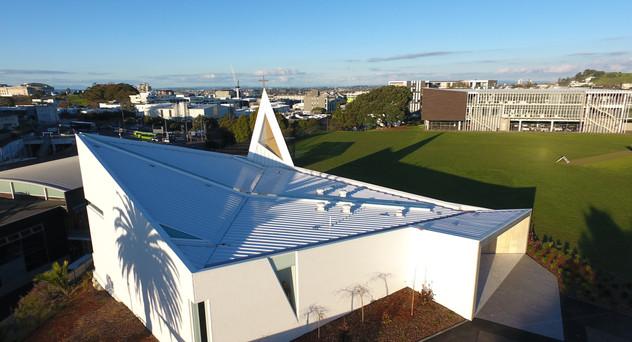 St Peters Chapel Eurotray Spanlok. Rooflogic Warm Roof