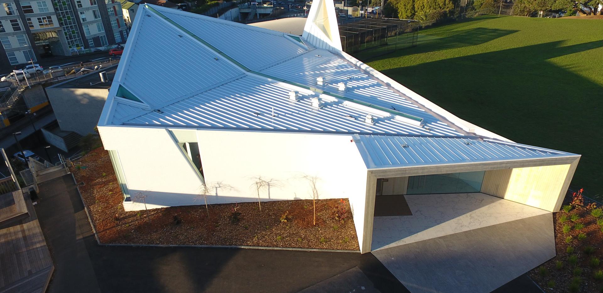 St Peters Chapel Eurotray Spanlok. Rooflogic Warm Roof 4