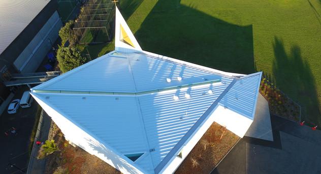 St Peters Chapel Eurotray Spanlok. Rooflogic Warm Roof 5