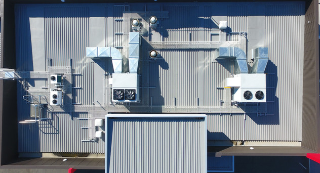 McDonalds Taupiri Architectural aluminium extruded wall panels. PVC membrane gutters Nu-Wall 3