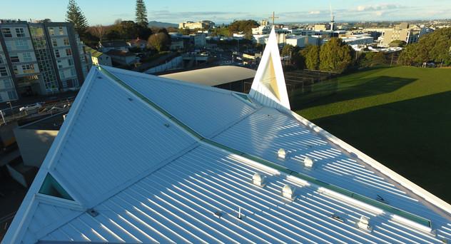 St Peters Chapel Eurotray Spanlok. Rooflogic Warm Roof 3