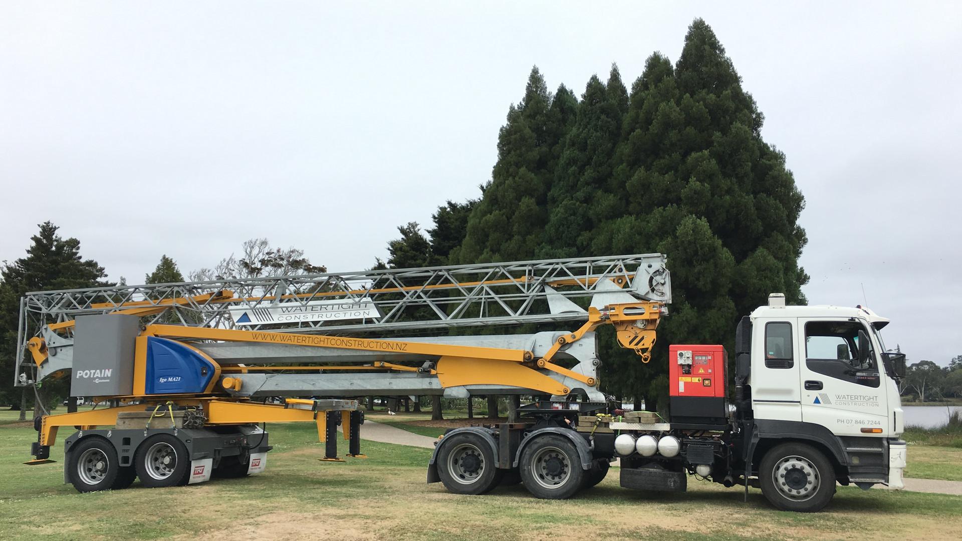 Water Tight Construction Crane