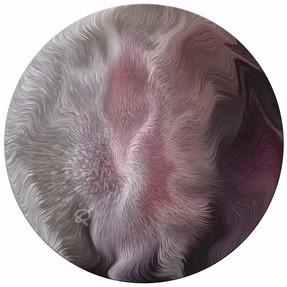 Effluvium Rosae, 2014, laser, smalti e vernici su plexiglas, 50x50 cm.  Milano, collezione privata