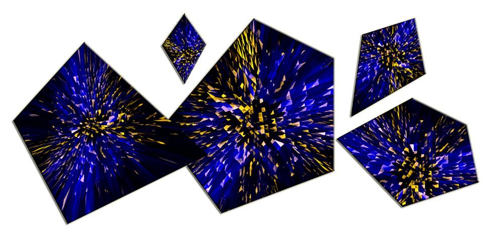 Cyber Eclipse, 2014, laser, smalti e vernici su plexiglas, 200x150 cm.
