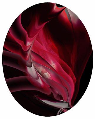 Cuspis Purpurea, 2014, laser, smalti e vernici su plexiglas, 90x72 cm. Milano, collezione privata.