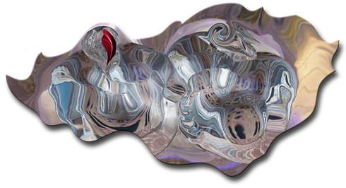 Afflatus Caelestis, 2015, laser, smalti e vernici su plexiglas, 200x104 cm. Milano, Collezione Privata