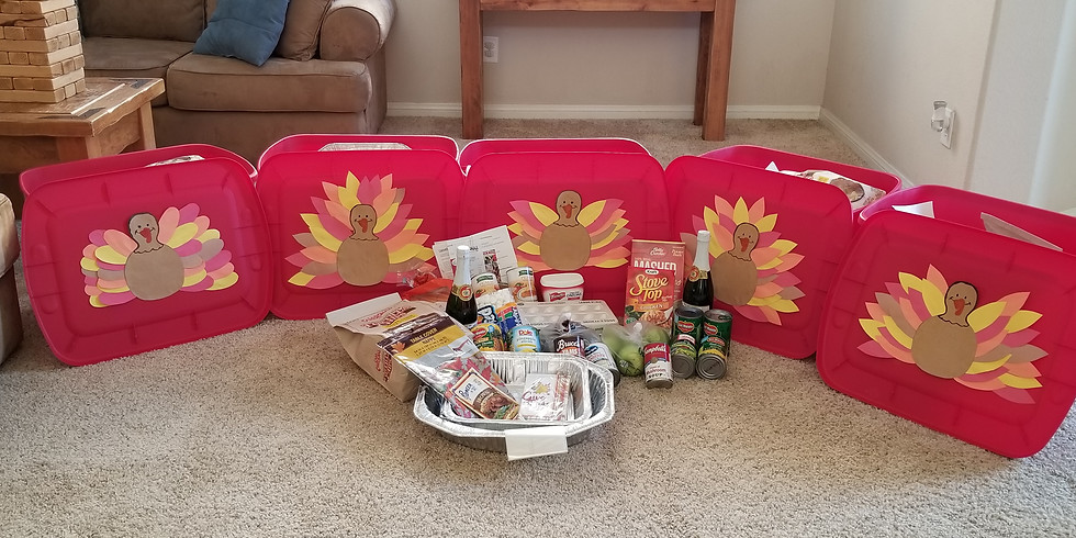 Group introduction meeting and Thanksgiving Food buckets