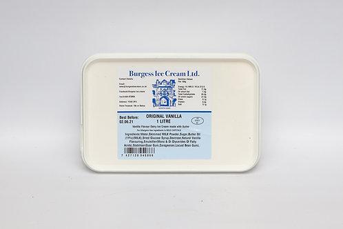 Burgess Ice Cream 1 litre Original Vanilla