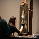 """Are you enjoying Conservation Live? Good news – as part of our ongoing series with DIA art conservator Becca Goodman treating """"Portrait of a Man"""" by Jan Hals, we will be answering submitted questions about the process through our social media platforms.  Submit questions you may have about the conservation process using the hashtag #AskAConservator to have Becca answer your questions related to art conservation (or """"the treatment"""")! Questions and answers will be posted onto our Twitter feed this Wednesday, March 27 at 12 p.m. #AskAConservator #ConservationLive #BringBackJanHals #artconservation"""