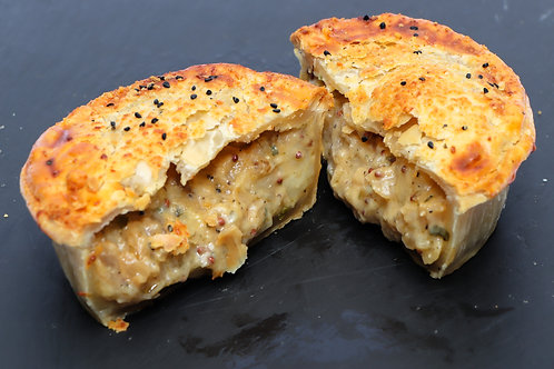 Small Cheese, Onion & Wholegrain Mustard Pie