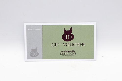 Drewton's £10 Gift Voucher