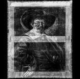"The x-ray shows that the size of ""Portrait of a Man"" by Jan Hals was altered, likely to fit a frame that was already chosen for the portrait. The strip at the top of the image is brighter, or more ""radio-opaque,"" than the rest of the work, confirming that it is a later addition to extend the painting's height. Records indicate that this change occurred before the 1920s. #BringBackJanHals #artconservation #xray"