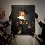 """It's almost time for Conservation Live! """"Portrait of a Man"""" by Jan Hals has been installed in the gallery. Come take a look or stop by on Thursdays from March 7 to April 11 to watch Becca Goodman, Samuel H. Kress Fellow, treat the portrait. She will be giving 10-minute talks about the work and her progress each Thursday at 11am, 1pm, 2pm, and 3pm. #BringBackJanHals #artconservation"""