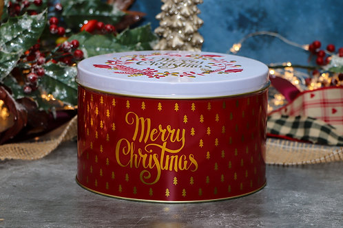 Farmhouse Biscuits Merry Christmas Tin 375g