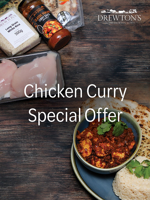 Chicken Curry Special Offer - Cook at Home - Serves 2 - 4