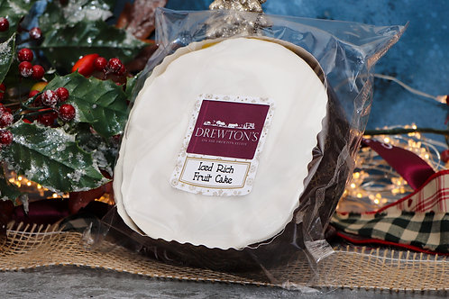Drewton's Large Iced Rich Fruit Cake