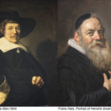 """Portrait of a Man"" by Jan Hals is currently undergoing conservation in the gallery! At left, the painting is pictured after Billy Suhr's 1952 treatment. Jan was a son of Frans Hals, who specialized in portraits and is known for his loose brushstrokes. He emulated his father's paintings but did not quite achieve the same charismatic brushwork. You can compare their works in person, since the DIA has two Frans Hals portraits on view in the Dutch galleries! #BringBackJanHals #artconservation #franshals"