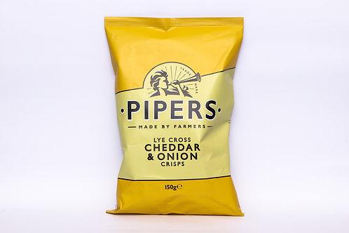 Pipers Lye Cross Cheddar & Onion Crisps 150g
