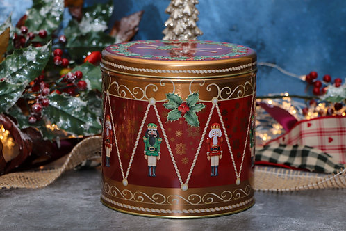 Farmhouse Biscuits Nutcracker Drummer Biscuits Tin