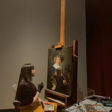 """(1)Are you ready for another round of #ConservationLive? Tune in to our Instagram story at 11 a.m. to watch DIA conservator Becca Goodman as she gives a 10-minute talk about the process of restoring """"Portrait of a Man"""" by Jan Hals. In addition to the live stream, come see Becca restore the damaged painting in the Special Exhibitions Central gallery every Thursday through April 11, 2019."""